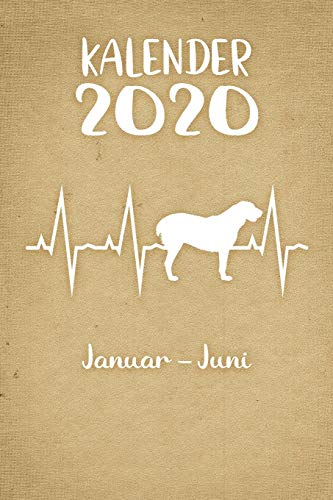 Kalender 2020: Beiger Tageskalender Alabai Herzschlag Hunde 1. Halbjahr Januar Juni ca...