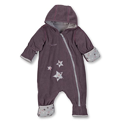 Sterntaler Baby Fleece Overall Anzug aubergine 5501701 (56, aubergine)