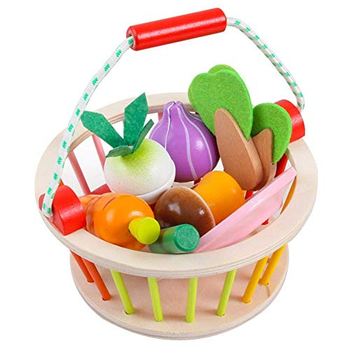 N-brand Juego de Cocina Juego de imaginación Juego de Alimentos para Cortar Madera Juguetes educativos tempranos para niños niñas