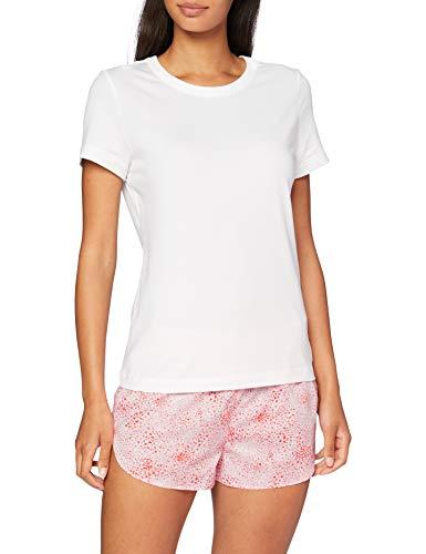 Calvin Klein S/s Short Set Ensemble De Pyjama, Blanc (Splatter Print SPN), Medium Femme
