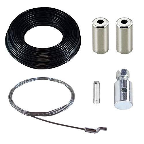 cyclingcolors cable cortacésped tracción Z S cabeza + funda con teflón para cable + prisionero tornillo + tapa tractor gasolina eléctrico