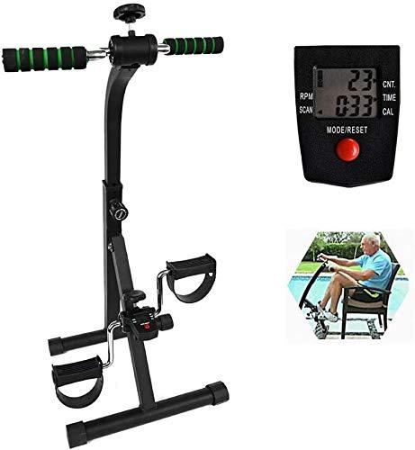 XHCP Pedal ejercitador Bicicleta Mano Brazo Pierna y Rodilla Equipo de Fitness Ajustable para Personas Mayores, Bicicletas de Ejercicio de rehabilitación en el hogar para Todo el Cuerpo