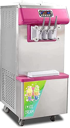 Máquina de helado suave comercial con 3 sabores, escritorio 2 + 1 Fabricación de helados suaves, 18-2 5L / H, Máquina de helados de yogur para restaurante, bares, cafés y hoteles.