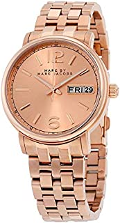 Marc by Marc Jacobs Fergus Women's Rose Gold Dial Stainless Steel Band Watch - MBM3439