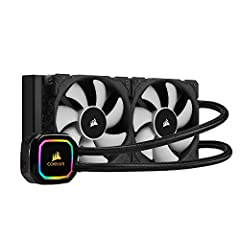 Two 120 millimeter corsair ML series magnetic Levitation PWM fans deliver improved airflow for extreme CPU cooling performance 16 individually addressable RGB LEDs light up the pump head to produce stunning customizable lighting effects to match your...