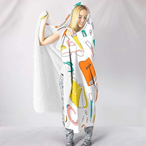 ANVPI artistieke effect afbeelding theme tapijten hooded Throw wrap comfortabele woondeken winter TV computer fleece deken voor volwassenen