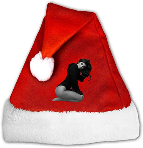 Kylie Jenner Fashion Female Celebrity Happy Birthday Santa Claus Father Christmas Hats for Adults and Teens Unisex 12 * 17 Inch (W*H)