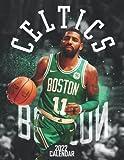 """Boston Celtics 2022 Calendar: Basketball Calendar 2022, Basketball Calendar 2022 desk planner desk, SPORT Calendar 2022-2023 – 18 months – BIG SIZE 17""""x11"""". Planner for all fans kids boys"""