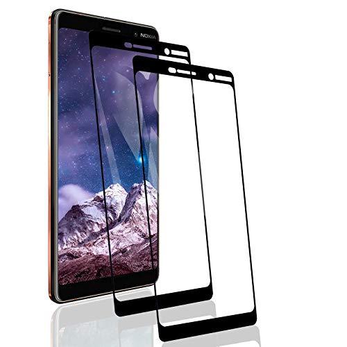 RSSYTZ [2 Pack Protector de Pantalla para Nokia 7 Plus, [9H Dureza] [Resistente a Arañazos] [Admite la función de Huella Digital] Vidrio Templado Screen Protector para Nokia 7 Plus