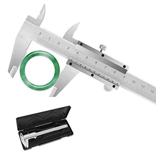 Pie de Rey Calibre Digital Vernier, Calibre Exterior Diámetro Interior Profundidad Electrónico Digital con Pantalla Digital Inch/MM de 0-150mm