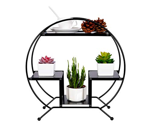 Metal 3-Tier Desktop Curved Shelf for Micro Plant Pot