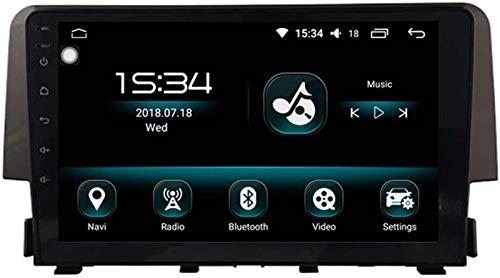 """BJYG Autosion 9""""1 DIN Android 10 Car Stereo Radio Bluetooth para Honda Civic 2015 2016 2017 Unidad Principal de Auto GPS Sat Support Carplay Dab Cámara de Marcha atrás Control del vola"""