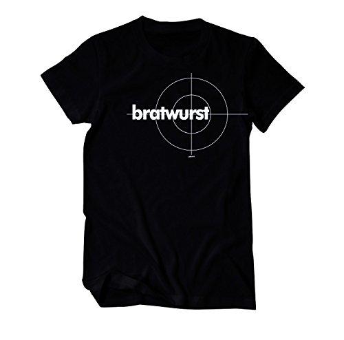Bratwurst im Tatort Style Grill T-Shirt Herren schwarz X-Large Schwarz