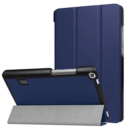 Xinda HUAWEI MediaPad T3 7.0 Case - Ultra Slim Lightweight Smart Shell Stand Cover Case for HUAWEI MediaPad T3 7.0 Inch Tablet 2017 Release, (blue)