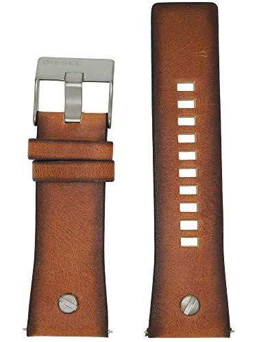 Diesel Uhrband Wechselarmband LB-DZ7332 Original Ersatzband DZ 7332 Uhrenarmband Leder 28 mm Braun