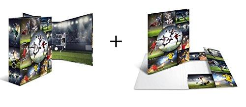 Fußball Ordnungs-Set / bestehend aus Motivordner + Sammelmappe / A4