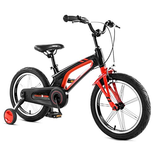 WJTMY Children's Bicycle,Kids Bike with Training Wheels, Children's Bicycle Magnesium Alloy Children's Bicycle 14in/16in Kids Bicycle 3-8 Year Old (Color : B, Size : 16 inches)