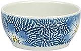 PFTHDE Cuenco de cerámica para Ramen, Cuenco de Cereal esmaltado con Flor Azul, Cuenco de Sopa Grande para Restaurante, Cuenco de Verduras para el hogar, Cuenco de Ensalada