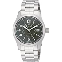 Hamilton Khaki Field Green Dial Stainless Steel Men's Watch (H68201163)