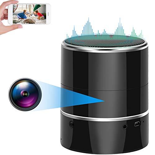 Camara Espia, Camara Oculta WiFi, CYI Bluetooth Mini Cámara Seguridad Inalámbrica 1080P HD, Lente de Rotación de 180° con Detección de Movimiento Video Vigilancia