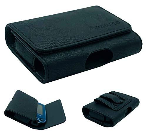 SEWAS Diabetic Care, Tasche für das Freestyle Libre Messgerät 1 und 2, Gürteltasche Blutzuckermessgerät, Diabetikertasche, Schutzcase Schwarz