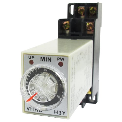 uxcell DC 24V 30Min 0-30 Minute Delay Timer Time Relay H3Y-2 8 Pin DIN...