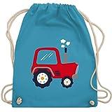 Shirtracer Fahrzeuge Kind - Kinder Traktor - Unisize - Hellblau - kinderturnbeutel kindergarten jungs - WM110 - Turnbeutel und Stoffbeutel aus Baumwolle