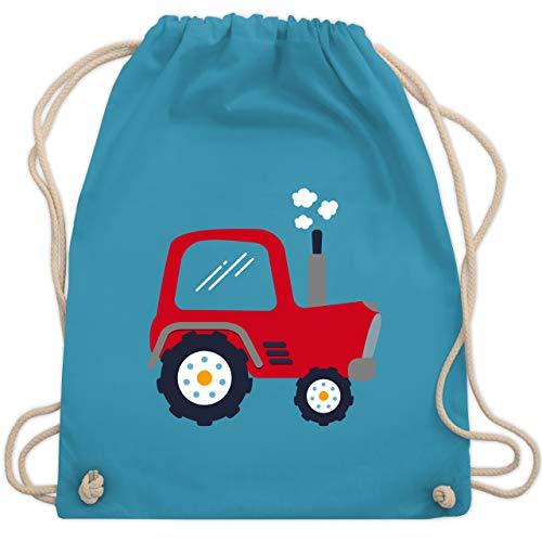 Shirtracer Fahrzeuge Kind - Kinder Traktor - Unisize - Hellblau - kinder turnbeutel - WM110 - Turnbeutel und Stoffbeutel aus Baumwolle