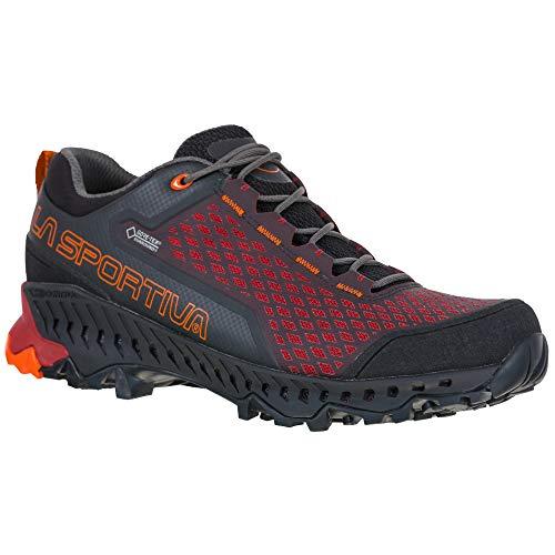 LA SPORTIVA Spire GTX, Zapatillas de Trekking Hombre, Black/Chili, 43.5 EU
