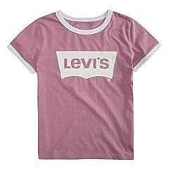 Levi's Camiseta para Niñas Classic Batwing, Tea Tree Pink