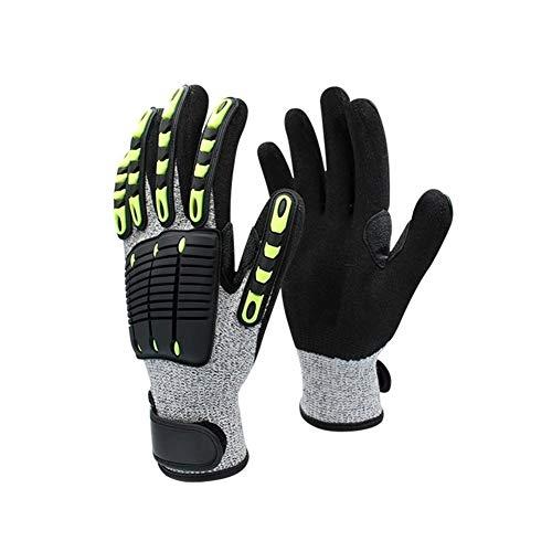 Gant de sécurité réglable résistant aux chocs résistant aux coupures,Protection de sécurité (Color : Black, Size : XS)