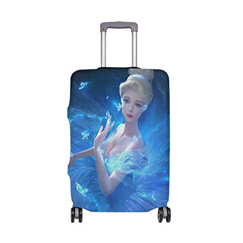 Travel Lage Cover Frozen Girl Princ Dream Suitcase Protector Fits 26-28 Inch Washable Baggage Covers