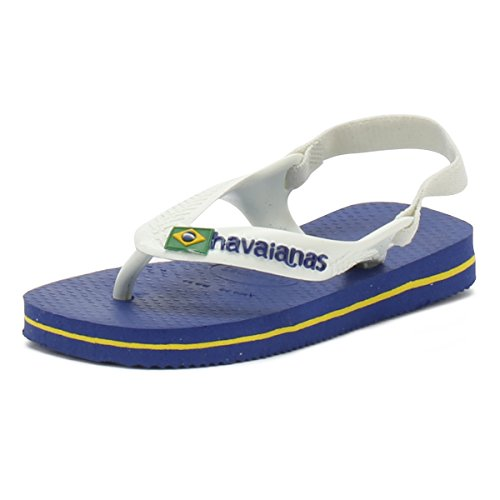 Havaianas Baby Brasil Logo II, Sandalias Unisex Niños, Azul (Marine Blue), 21 EU