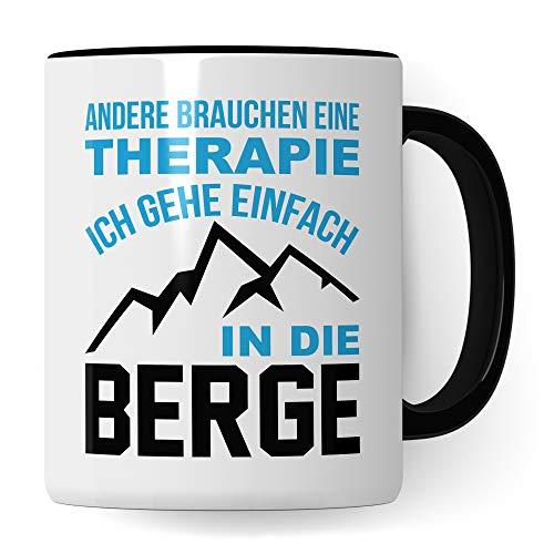 Pagma Druck Berge Tasse, Wandern Geschenk, Wanderer Becher Bergwandern Trekking Bergsteigen Geschenkidee, Berg Kaffeetasse Gebirge Wanderlust Alpen Motiv Kaffeebecher lustig