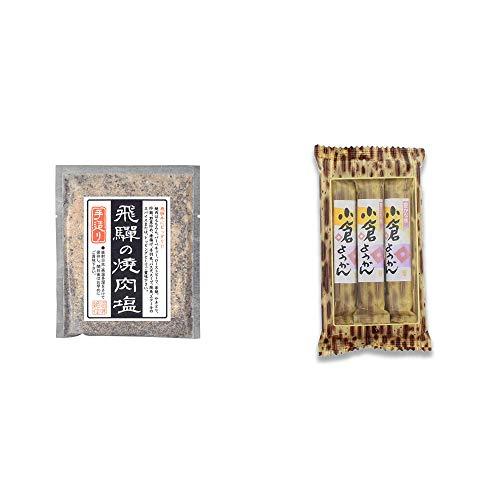 [2点セット] 手造り 飛騨の焼肉塩(80g)・スティックようかん[小倉](50g×3本)