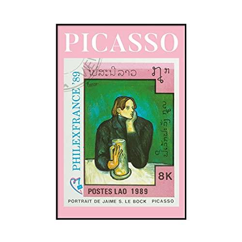 Poster e stampe di paesaggi vintage di Picasso Monet, quadro di arte della parete di farfalle e girasoli, pittura su tela senza cornice A1 60x80cm