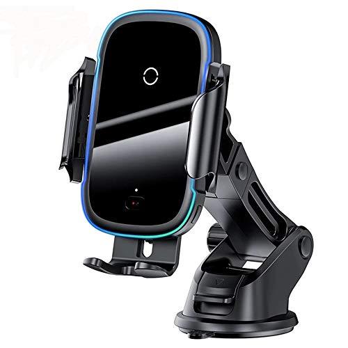 XYY Montaje del Cargador de automóvil inalámbrico [Auto Stripping], 15W Qi Cargando RÁPIDO DE Cargo INFLARADO INFLULTENTE INFLARADO, para iPhone, Samsung, Huawei, Y MÁS.