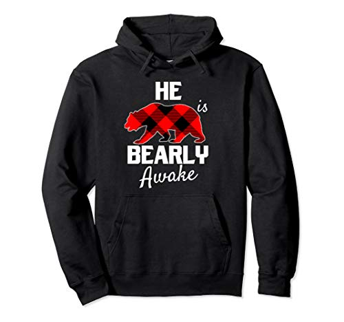 His Bear Plaid Weihnachten Rot Schwarz Mr Husbär Pyjamas PJs Pullover Hoodie
