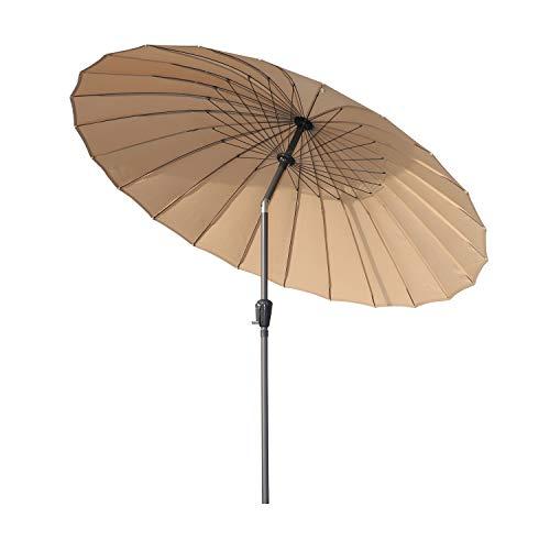 Angel Living 250cm Sonneschirm Sonnenschutz neigbar Rostfrei aus Aluminium, Stahl und Polyester (Beige)