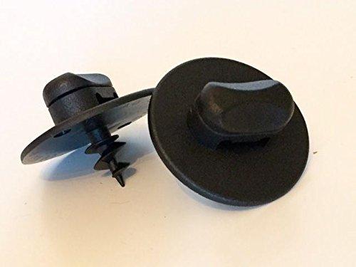 Kit 2 * fixation noire OVALE de tapis de sol/REF RX23