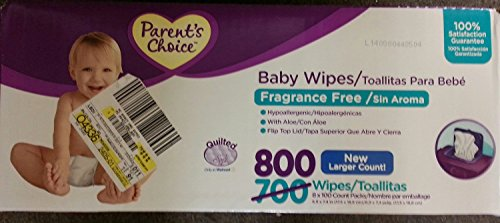 Parents Choice Fragrance Free Baby Wipes (800 Count)