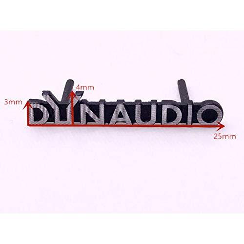 DYNAUDIO ディナウディオ 2本セット カードンスピーカー エンブレム ピンタイプ ロゴ マーク アルミ製ポリッシュ仕上げ VW 欧車パーツ