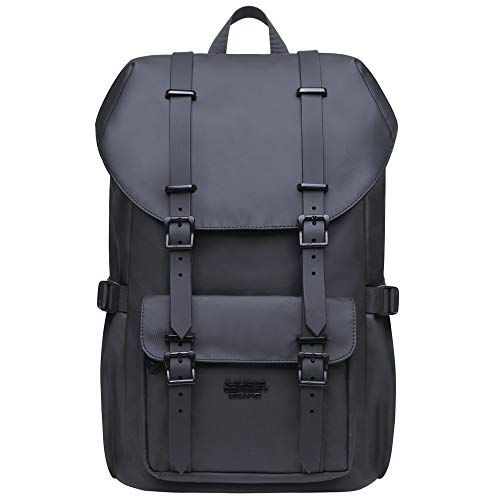 KAUKKO Laptop Outdoor Backpack, Travel Hiking& Camping Rucksack Pack, Casual Large College School Daypack, Shoulder Book Bags Back Fits 13' Laptop & Tablets Mini Size(9black)