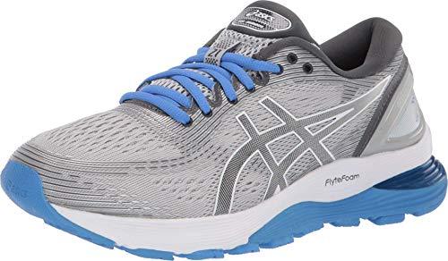 ASICS Women's Gel-Nimbus 21 Running Shoes, 6M, MID Grey/Dark Grey