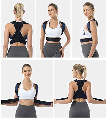 Postura de espalda masculina y femenina ortesis clavícula sentada postura ortesis correa ajustable completa espalda y hombro soporte superior
