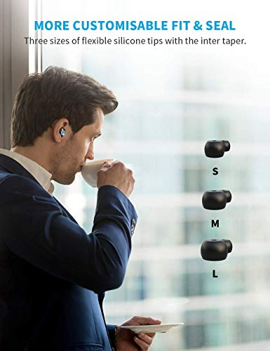 True Wireless Earbuds, VANKYO X200 Bluetooth 5.0 Earbuds in-Ear Stereo Headphones with Smart LED Display Charging Case 120H Playtime Built-in Mic with Deep Bass for Sports Work