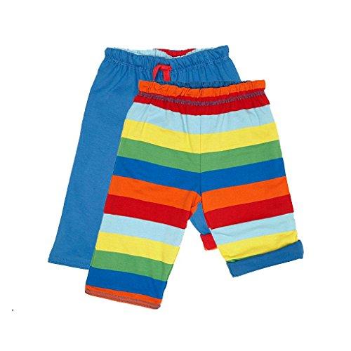 Toby Tiger Organic Cotton Multi Stripe Reversible Trousers, Pantalon Bébé garçon, Multicolore, FR: 3 Ans (Taille Fabricant: 2-3 Years)