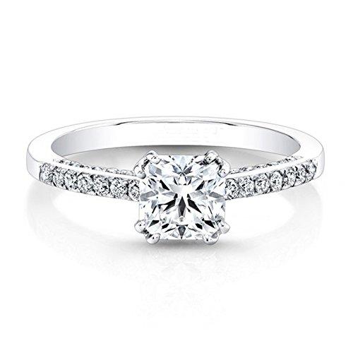 Moissanit -Diamantring 0,81kt; Verlobungsring,Hochzeitsring, Ring, 14K Weißgold, Solitär, Jahrestag, Ringgrößen: 48, 49, 50, 52, 53, 54, 55, 56, 58, 59, 60, 61