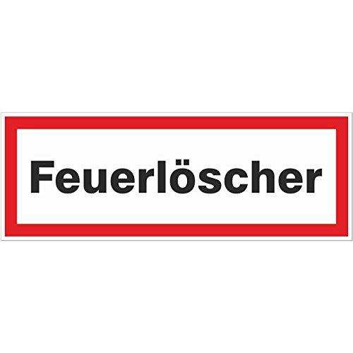 1 x Feuerloescher Aufkleber Brandschutz Hinweisschild Brandschutz Feuerwehr 220 x 80 mm