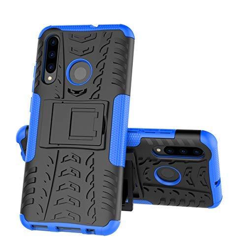 XINYUNEW Funda Huawei P Smart Plus 2019, 360 Grados Protective+Pantalla de Vidrio Templado Caso Carcasa Case Cover Skin móviles telefonía Carcasas Fundas para Huawei P Smart Plus 2019-Azul